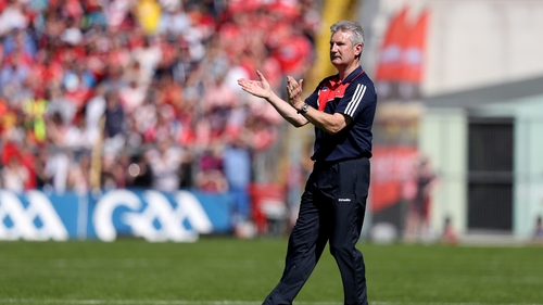Kieran Kingston on the sidelines for Cork