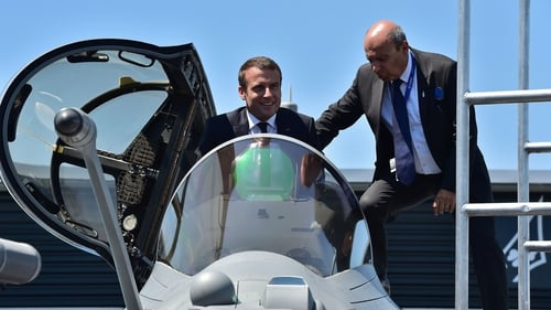 French President Emmanuel Macron opens the Paris Air Show