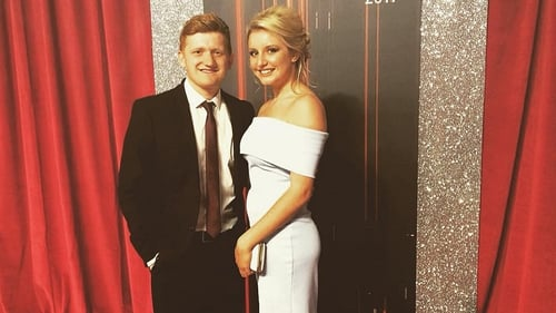 Coronation Street star Sam Aston celebrating engagement to Briony Gardner