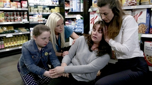 Fair City: Ellie (Suzie Power) is devastated when she sees what's happening to her mum Heather (Una Kavanagh)