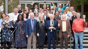 RTÉ staff and independent producers celebrate their big win