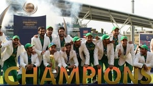 Pakistan celebrate after winning their ICC Champions Trophy final match against India