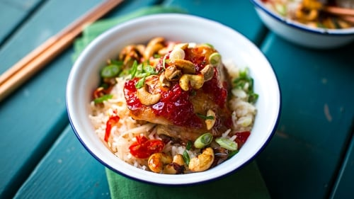 This week on Donal's Meals in Minutes, Donal Skehan dishes up a delicious serving of Chilli Jam Chicken & Nam Pla Rice. Tune into RTÉ One at 8:30pm every Tuesday.