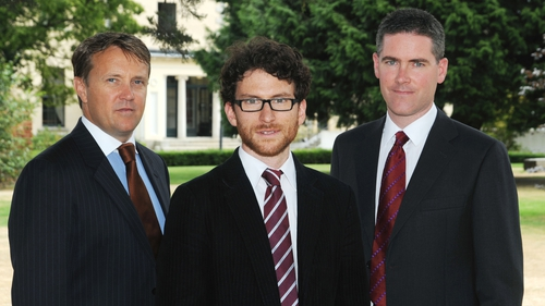 (Left to right) Wayne Byrne, Dr Eoin Syron and Professor Eoin Casey, co-founders, OxyMem