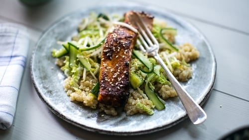 This week on Donal's Meals in Minutes, Donal Skehan dishes up a delicious serving of Miso Salmon with Smacked Cucumber. Tune into RTÉ One at 8:30pm every Tuesday.