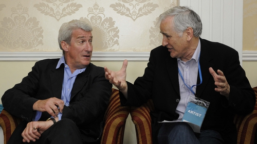 Jeremy Paxman with Myles Dungan at the Hay Festival (now Hinterland) in Kells.