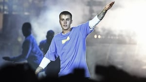 Justin Bieber takes to the stage at the RDS in Dublin on June 21
