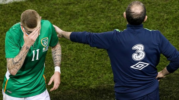 James McClean (L) with Martin O'Neill