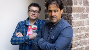 José Eduardo Agualusa (right) and translator Daniel Hahn, winners of the 2017 International DUBLIN Literary Award.