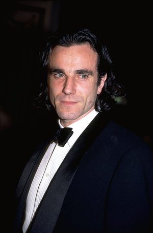 The young Daniel Day-Lewis winning his first Oscar trophy in 1989 for his role in 'My Left Foot'.