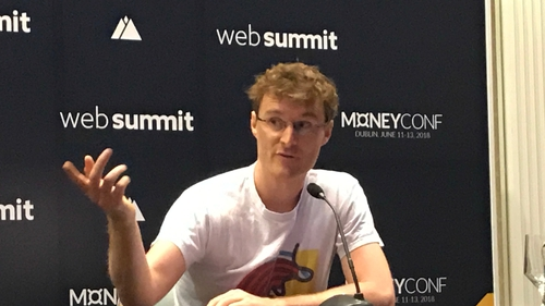 Paddy Cosgrave said MoneyConf, the Web Summit-organised financial tech conference, will be held in the RDS next year