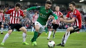 Sean Maguire will be looking to add to his season tally when Cork visit Derry