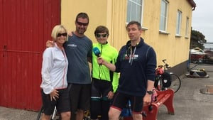 Cian McCormack (right) met the American Zellers family on his travels through Tarbert
