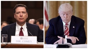 Former FBI director James Comey and US President Donald Trump
