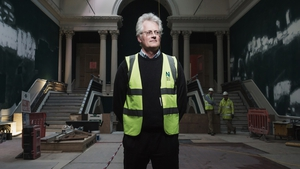 NGI Director Sean Rainbird, pictured in the middle of refurbishments at the National Gallery (Photo: Matthew Thompson)