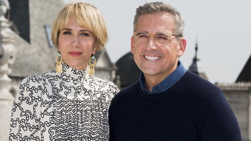 Steve Carell (here with Kristen Wiig) game to shoot new Anchorman in Ireland