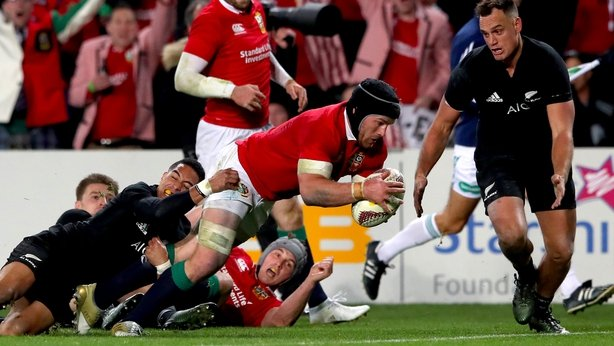 Ioane scores try double as All Blacks down Lions in first Test