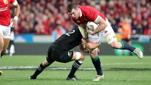 O'Mahony in action in the first test