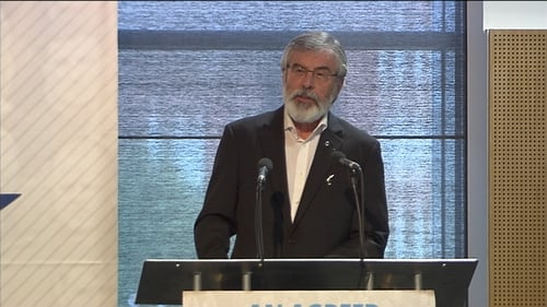 Sinn Féin President Gerry Adams said republicans needed to advance more than just an economic case to end partition
