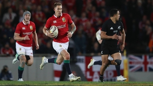 Liam Williams was instrumental in the Lions' opening try with a mazy run at Eden Park