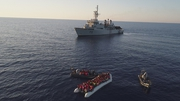 The LÉ Eithne was involved in several rescues off the Libyan coast