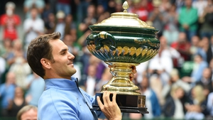 Federer recorded his ninth victory at Halle