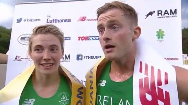 Natalya Coyle and Arthur Lanigan-O'Keeffe struck gold for Ireland