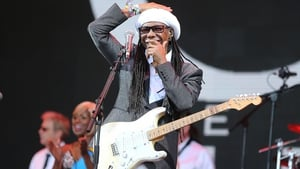 An emotional Nile Rodgers told the audience at Glastonbury that he is cancer free