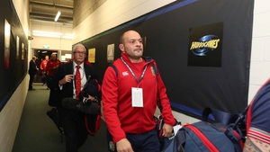 A picture of concentration - Rory Best ahead of today's assignment