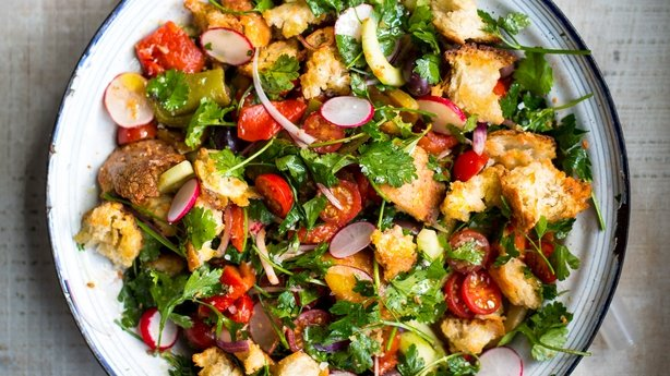 Middle Eastern Chicken & Bread Salad