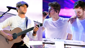 The Chainsmokers (left) and Niall Horan -