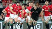 Sean O'Brien in action during the first Test against New Zealand