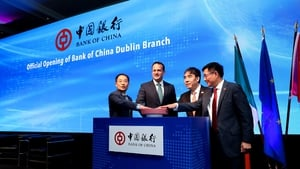 Taoiseach Leo Varadkar attended the official opening of Bank of China's Dublin branch today