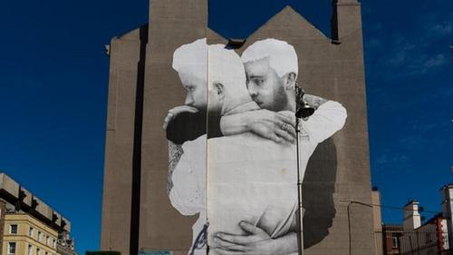 Joe Caslin's 'The Claddagh Embrace/#yesequality' (2014)