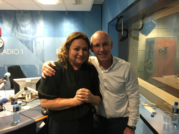 Norah Casey with Ray D'Arcy in studio