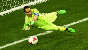 Claudio Bravo saved three penalties to send his side to the final