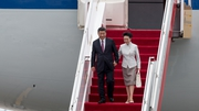 Chinese President Xi Jinping ius in Hong Kong for the 20th anniversary of the former British colony's return to China