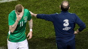 FIFA begun disciplinary proceedings last week into James McClean, left, and Martin O'Neill
