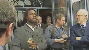 Nigel Benn was unhappy at some of the questions