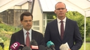 Northern Ireland Secretary James Brokenshire and Minister for Foreign Affairs Simon Coveney at Stormont today