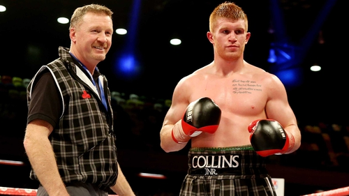 Steve Collins (L) with his son Steve Collins Jnr