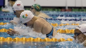 Mona McSharry was back in the pool after yesterday's success