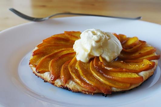 Nevens Recipes - Peach tarte Tatin with  Citrus mascarpone