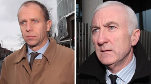 John Bowe (L) and Denis Casey were found guilty last year of agreeing a scheme to mislead the public about the true health of Anglo