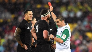 Sonny Bill Williams was red-carded in the second test against the Lions