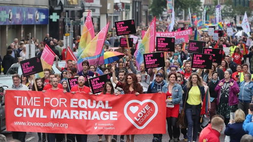 The ban on same-sex marriage is one of a series of sticking points holding up the formation of a new power-sharing government at Stormont