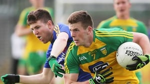 Donegal's Eoghan Ban Gallagher and Larry Moran of Longford