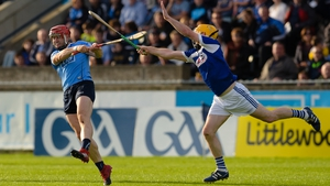 David Treacy hit 0-9 as Dublin strolled past Laois in the second half at Parnell Park.