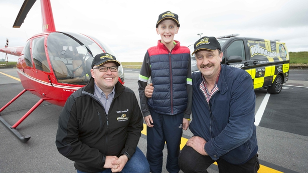 BUMBLEance's Tony Heffernan with Keith and David Gallagher. Pic: Eamon Ward