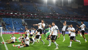 Germany celebrate their Confederations Cup triumph